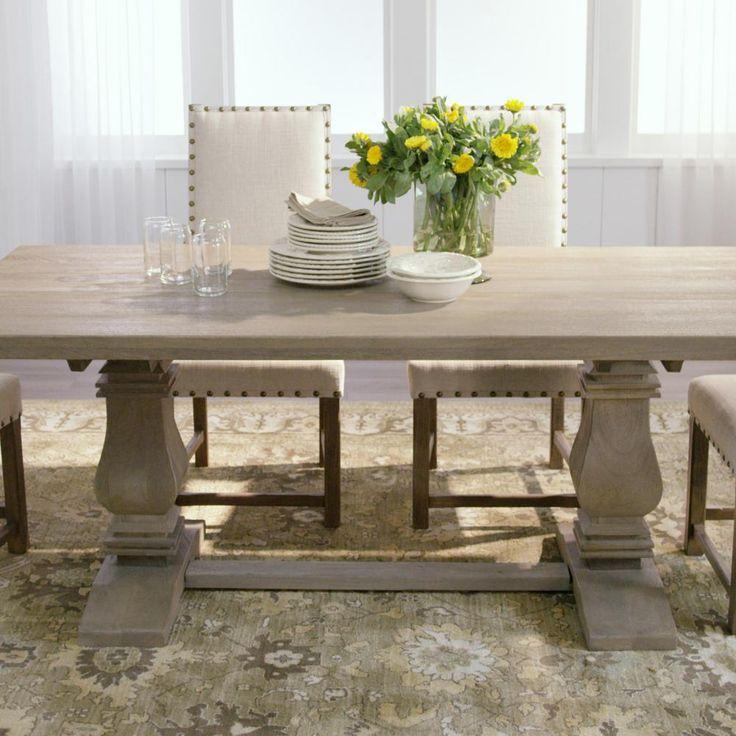 Aldridge antique grey rectangular dining table nb063ag in