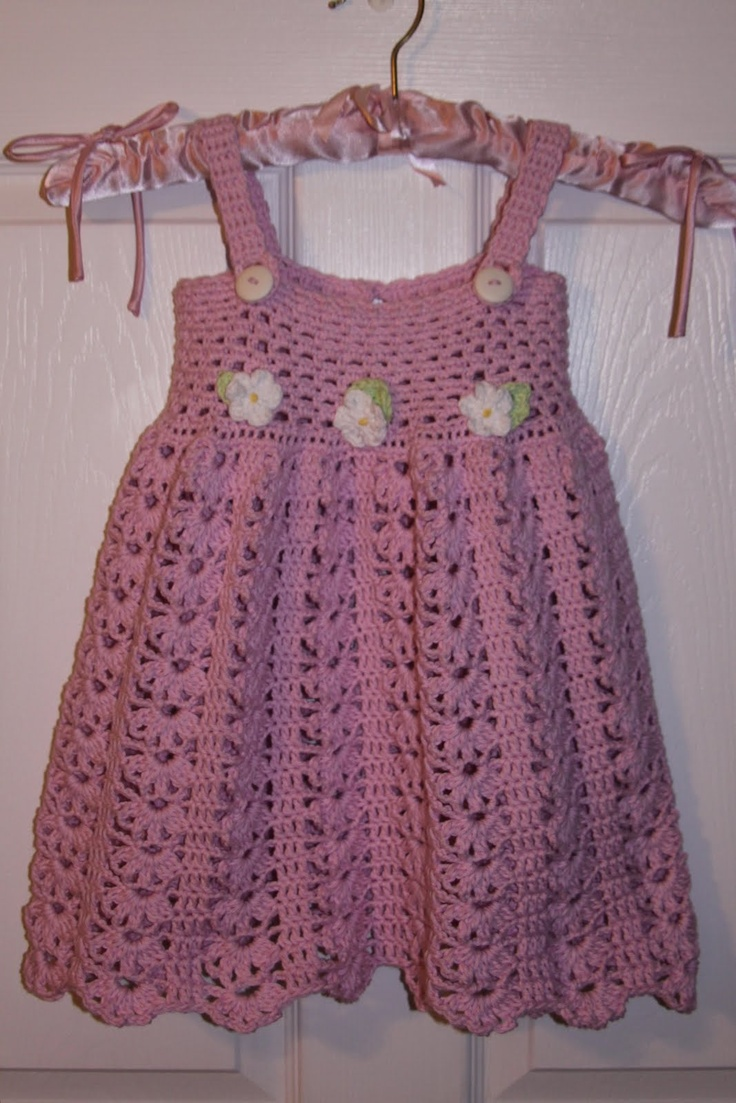 My crochet little girl's dress.