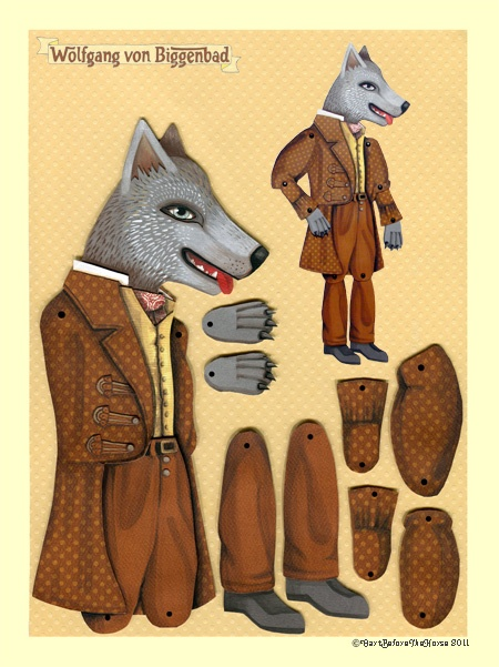 Wolfgang von Biggenbad printable paper doll by cartbeforethehorse