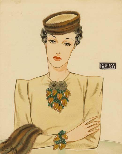 vintage Miriam Haskell jewelry ad
