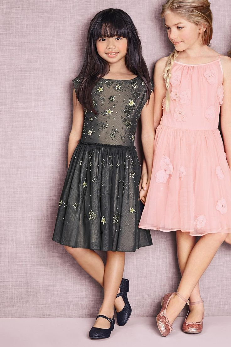 Next online party dresses - Buy Grey Moon And Stars Dress 3 16yrs From The Next Uk Online