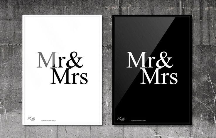 Mr & Mrs #RabbitDESIGN #poster