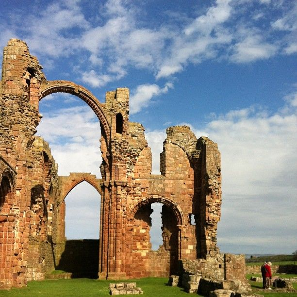 The ruins of Lindisfarne Priory on Holy Island (Northumbria, England). For anyone that's watched the US show Vikings, this is where they raided in episode 2 and grabbed Athelstan ;)