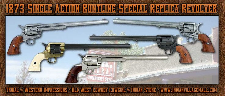 Old West 1873 Single Action Buntline Special Revolver Museum Quality Non-Firing…
