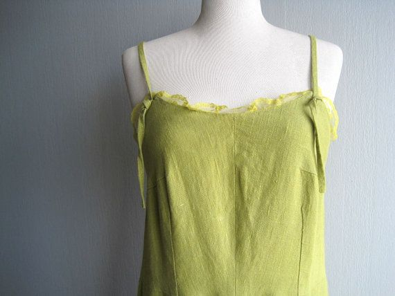 Linen Dress  Linen Summer Clothing Sarafan  Spaghetti Strap