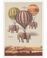 Flight of the Elephants-Art Print