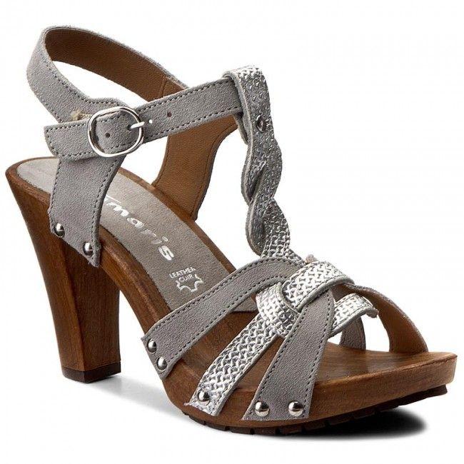 Sandały TAMARIS - 1-28349-28 Taupe/Silver 391