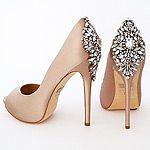 Badgely Mischka Kiara, Latte Wedding Shoes