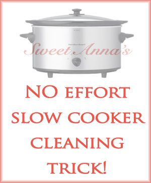 a no effort slow cooker cleaning trick: Clean Organizations, Clean A Crockpot, Ideas Tips, Cooking Sweet, Cleaning, Effort Slow, Slow Cooker, Cooker Clean, Clean Tricks