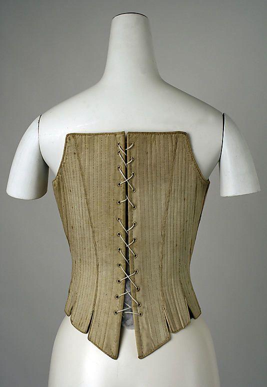 Corset Date: third quarter 18th century Culture: American Medium: cotton