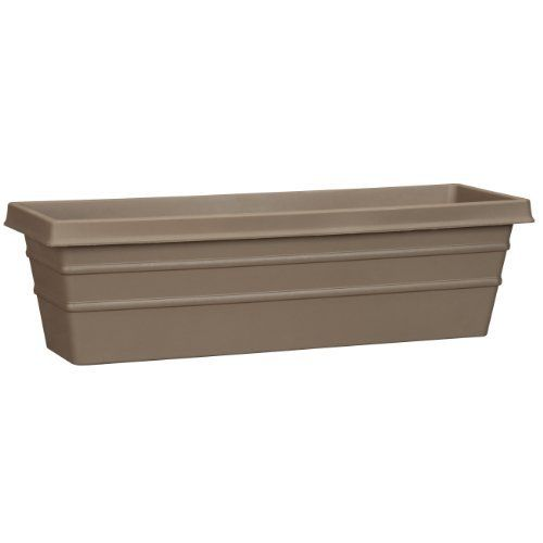 Akro-Mils MSW24000E21 Marina Window Box, Chocolate, 24-Inch by Akro-Mils. $14.70. Durable plastic construction. Available in slate chocolate. Marina window box. Measures 24-inch length by 6.9-inch height by 24-inch width. This marina window box is durable plastic construction. Available in chocolate color. It measures 24-inch length by 6.9-inch height by 24-inch width.