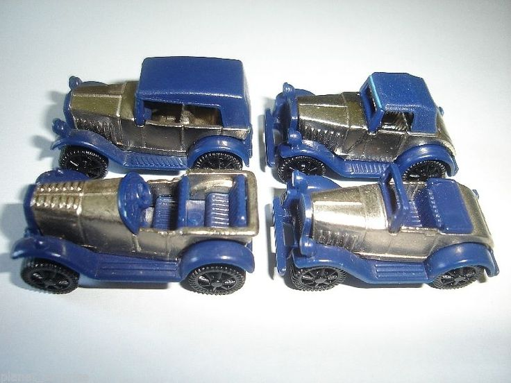 Blue Chrome Vintage Model Cars 1920's Set 1 87 H0 Kinder Surprise Miniatures | eBay