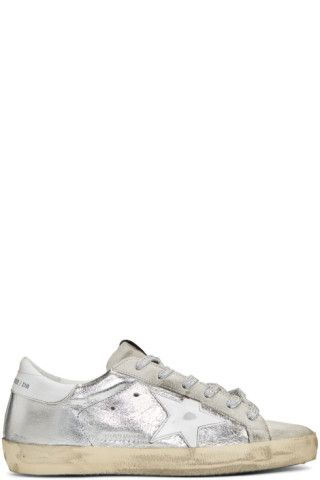 Buy Golden Goose SSENSE Exclusive Silver   Grey Superstar Sneakers on  SSENSE.com and get free shipping   returns in Canada. Low-top sneakers … 9638c01951ed