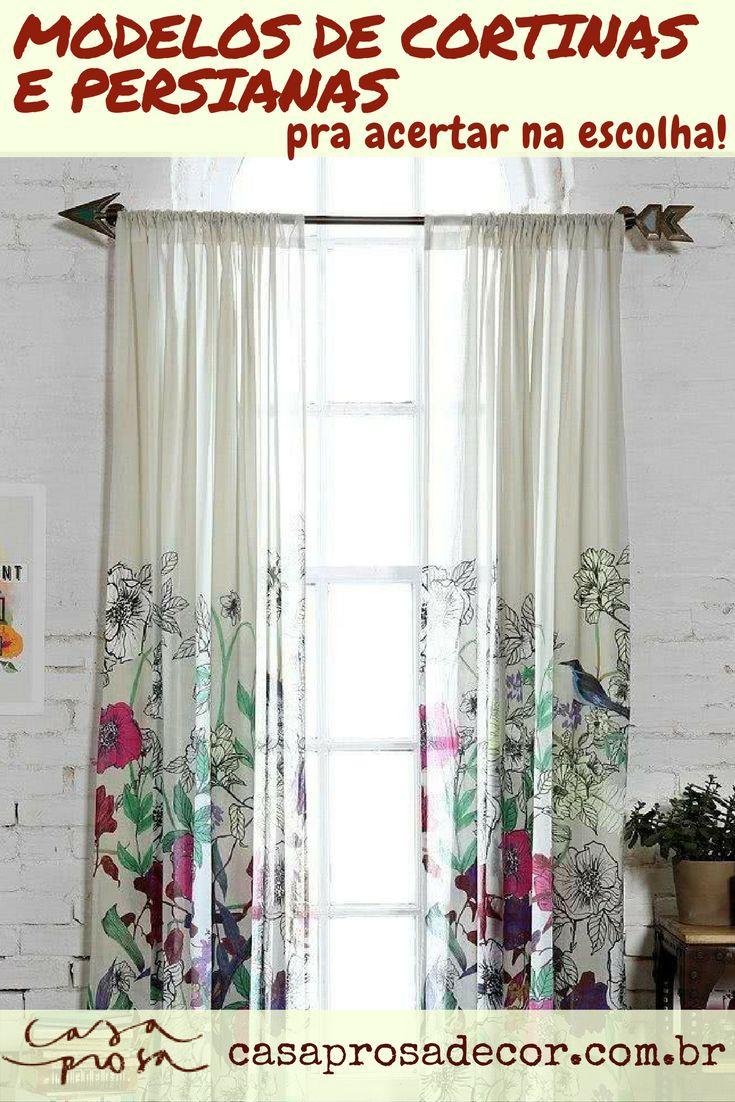 Precisando comprar cortinas ou persianas? Não faça isto antes de ler este post:  te mostro os modelos mais adequados pra cada cômodo e muita inspiração!