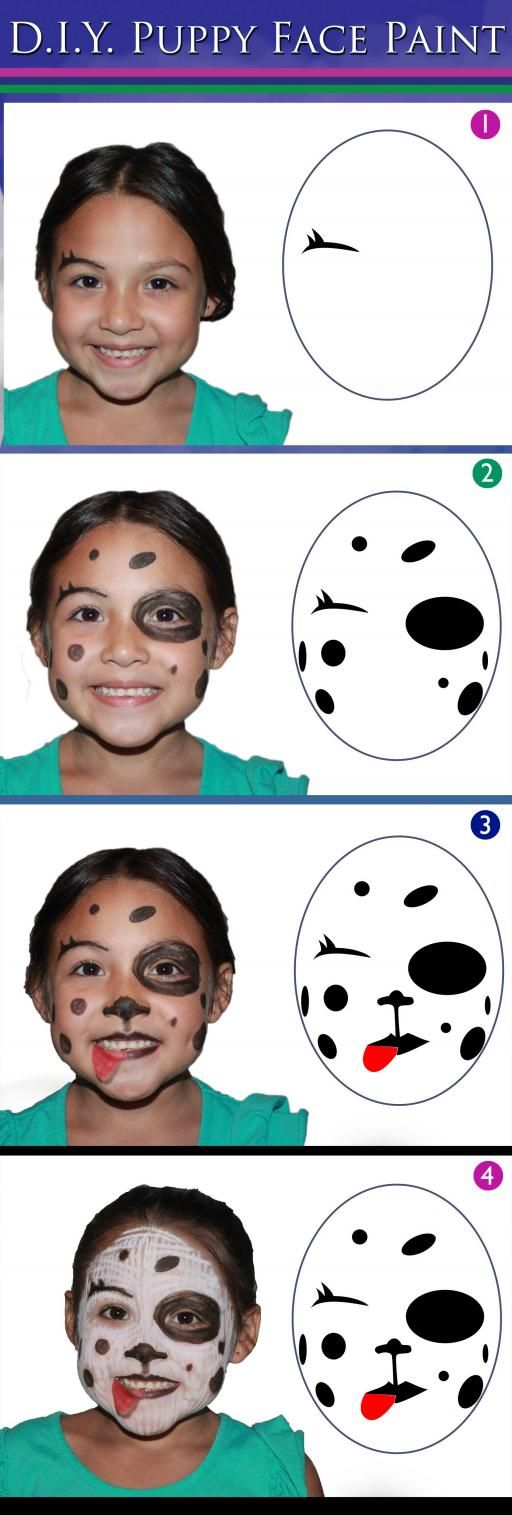 We have another great Halloween idea for you! Puppy face paint! Who doesn't love puppies? This face paint look will not only get plenty of awwws but will also cost you VERY little! If you are still looking for a great Halloween idea for yourself and/or your little ones, this one is perfect!