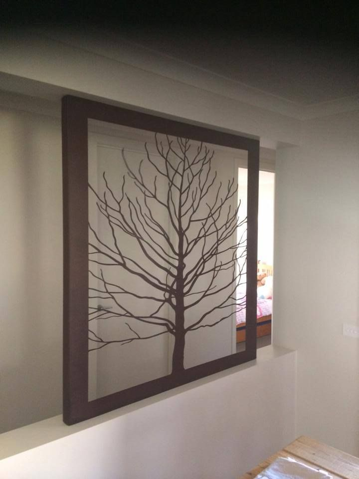 Custom forest panel installed into void at a home. Rusted and sealed finish.  Measures 1500mm x 1500mm $879