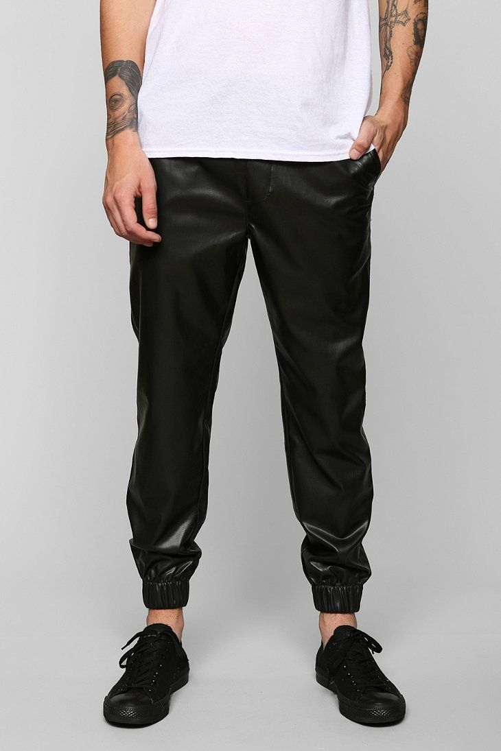 Original See You Monday Black Faux Leather Jogger Pants At Zumiez  PDP