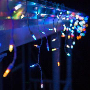 50 m5 multicolor color change led icicle lights - Christmas Lights That Change Color