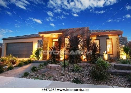 Stock Photo of Contemporary Australian home k6673952 - Search Stock Photography, Print Pictures, Images, and Photo Clip Art - k6673952.jpg