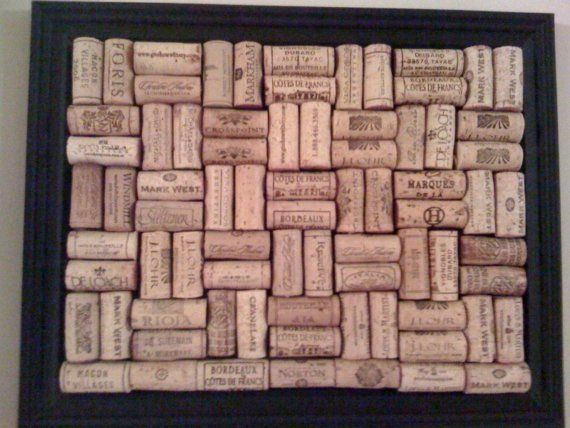 #cork bulletin board- better to see all the wines!