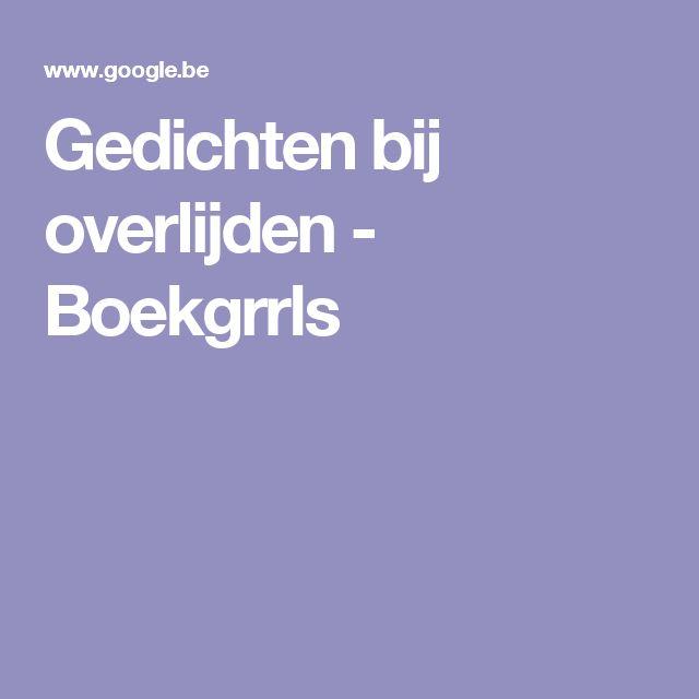 Gedichten bij overlijden - Boekgrrls