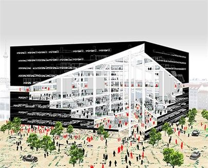 OMA- OMA WINS COMPETITION TO DESIGN AXEL SPRINGER'S NEW MEDIA CENTRE IN BERLIN