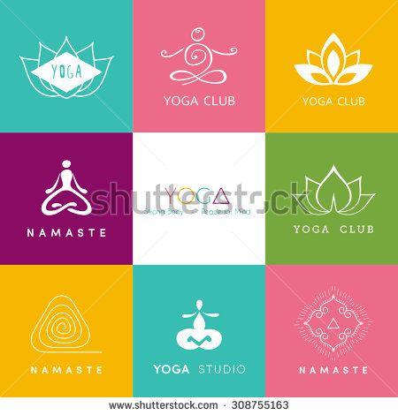 Vector illustration of Logo for a yoga studio