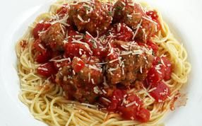 Spaghetti and meatballs in just 35 minutes! Enjoy a quick and tasty dinner without all that prep work.