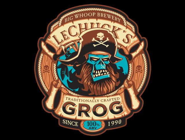Ghost Pirate Grog-Exclusive T-Shirt - Monkey Island T-Shirt is $11 today at TeeFury!
