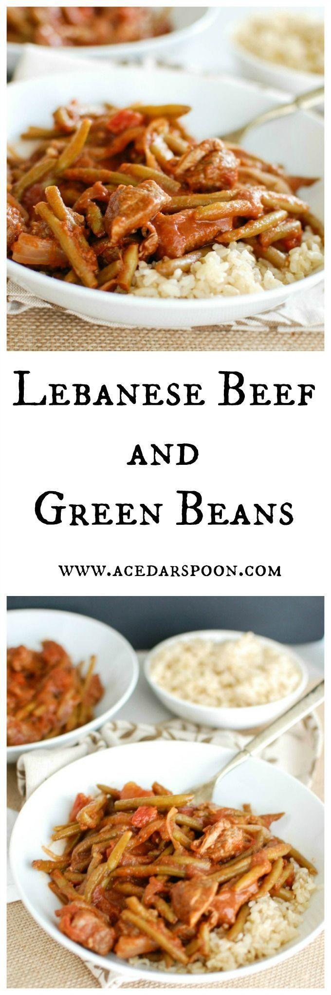 Lebanese Beef and Green Beans // A Cedar Spoon