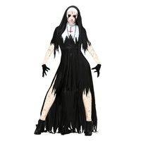Product: Vampire Nuns Devil Costume size: S: Length: 148; Bust 77; Waist 67 M: Length: 150; Bust 81