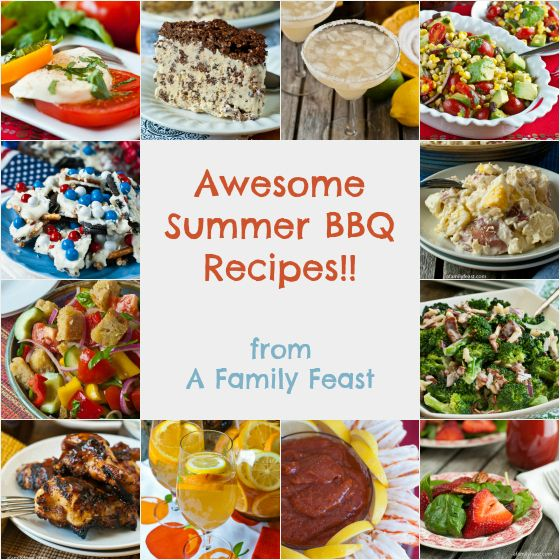 Awesome Summer Barbeque Recipes - A great collection of appetizers, drinks, salads, desserts!