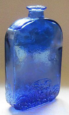 Kumela Glas Flasche Blomquist Design Vase 60-70er Jahre; Vintage Finnland; Blau