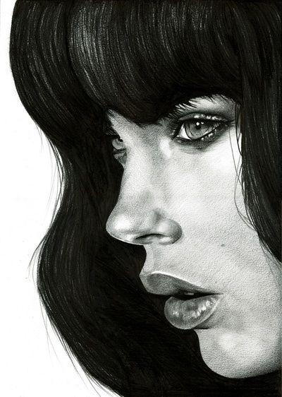 Girl - BlackNYXStudios Portraits, Girls Generation, Black And White, Art Prints, Black White, Canvas, Fashion Illustration, Illustration Art, Pencil Drawing