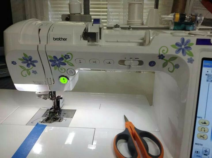 Decorating Your Sewing Machine With Scrapbook Stickers
