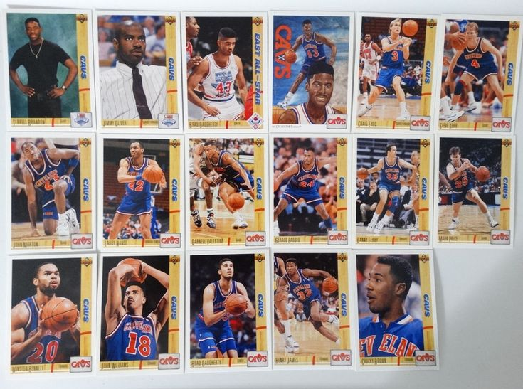 1991-92 Upper Deck Series 1 Cleveland Cavaliers Team Set Of 17 Basketball Cards #ClevelandCavaliers