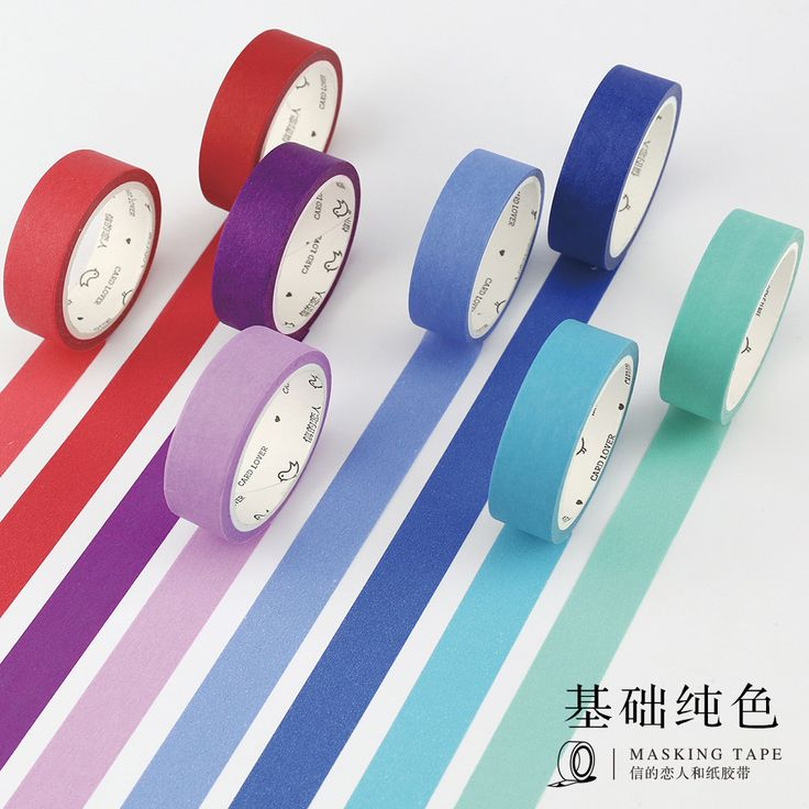 1 Roll 24 Colors Cute Japanese Washi Tap Basic Color DIY Decorative Adhesive Tape Scrapbooking Masking Tape Sticker Photo DIY