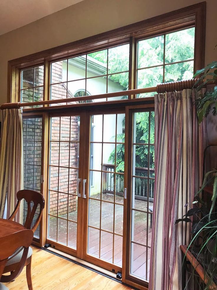 4panel sliding glass door lets in natural light sliding