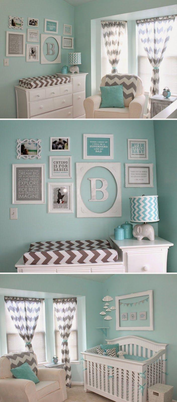 ZAPISKI MAMY : Pokój maluszka. Miętowe inspiracje.
