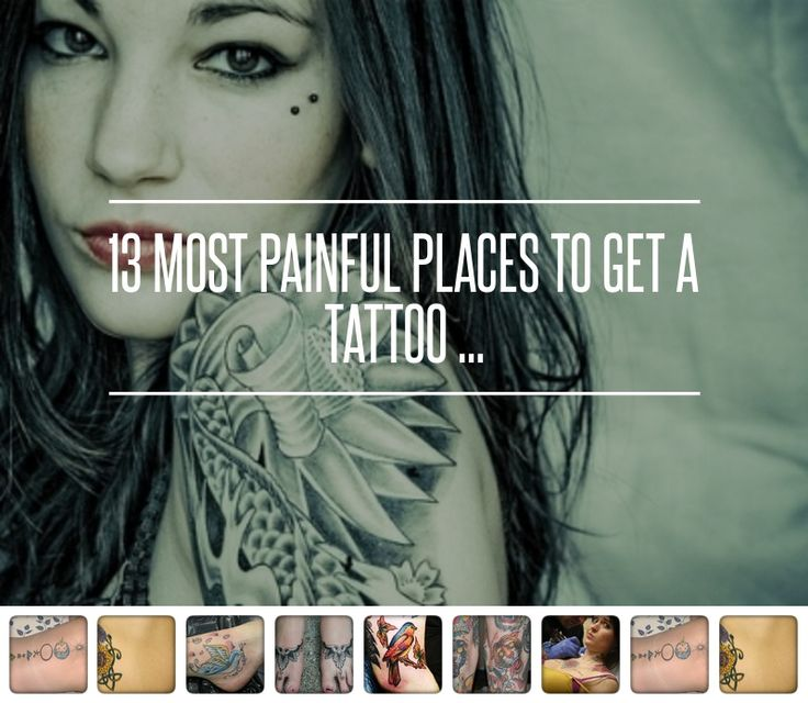 13 Most Painful Places to Get a Tattoo Most painful