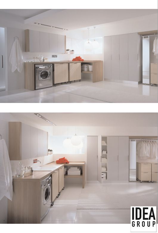 Spazio Evoluzione by BLOB #Ideagroup: a stylish and functional laundry.