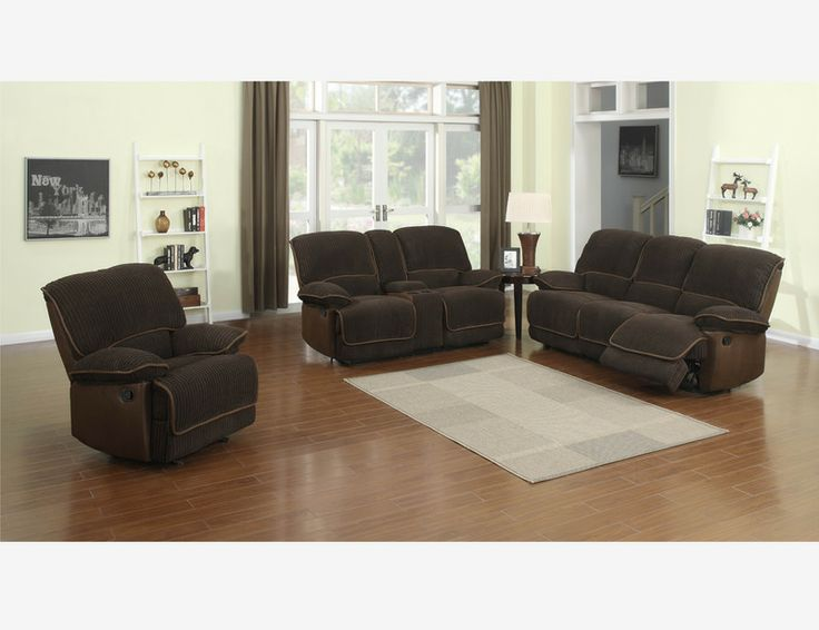 Chaise Lounge Sofa Reggie Chocolate Polyester Reclining Sofa Loveseat Recliners Console