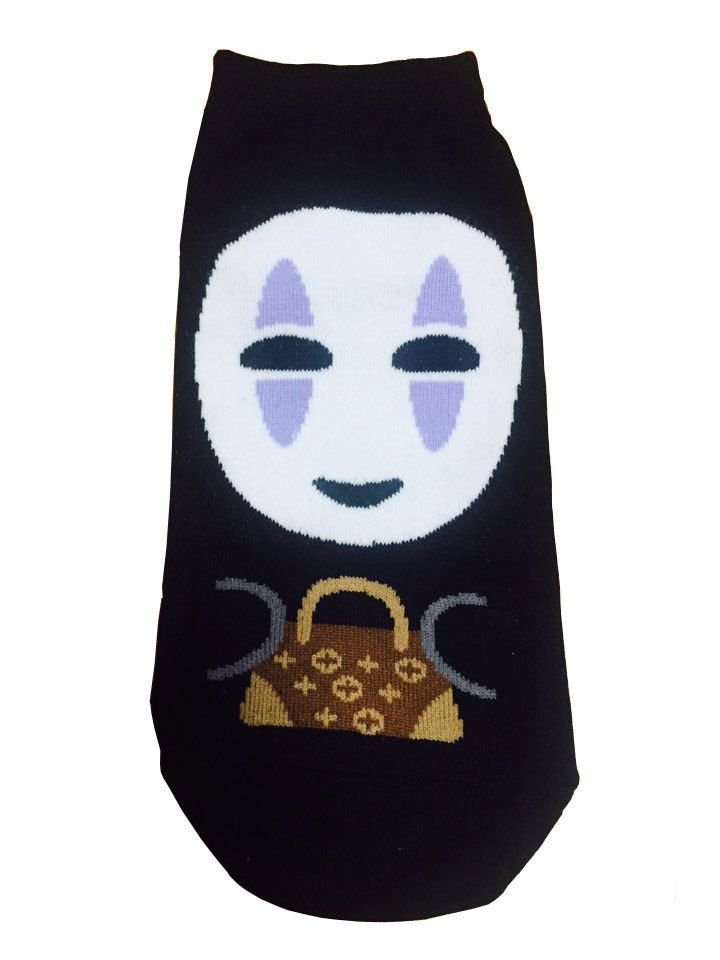 New Unisex Sen And Chihiro No Face Kamikakushi Character & Mini bag Cotton Socks