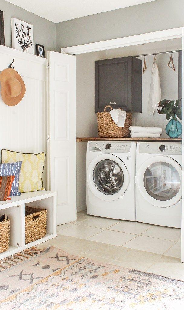 Diy Laundry Room Closet Makeover On The Cheap Modern Farmhouse