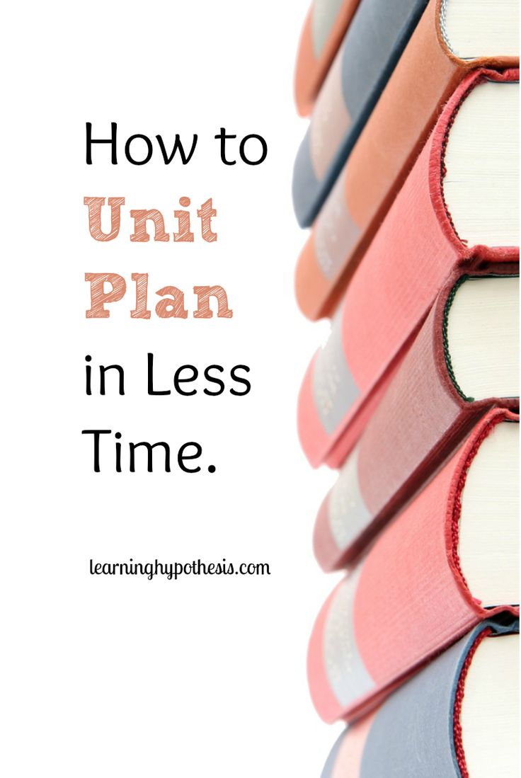 What Idea Did Hardy And Weinberg Disprove - Creating unit less plans in less times by doing one thing differently