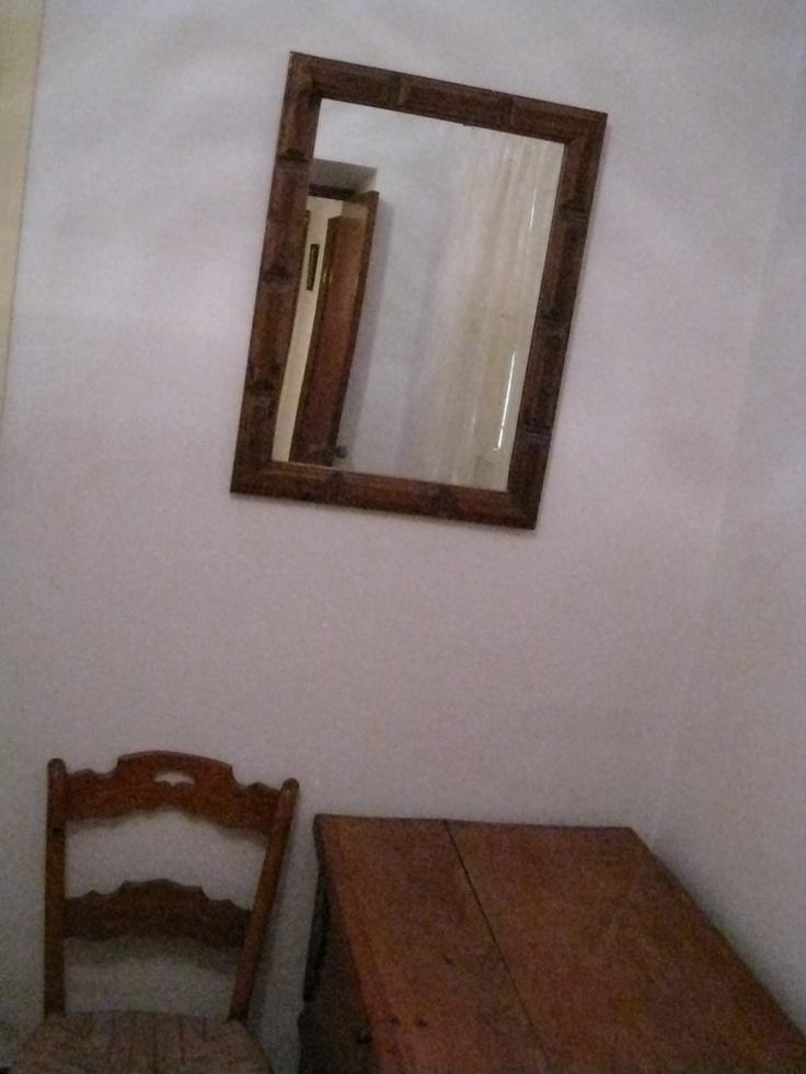 Detalle del dormitorio de literas por el que se accede a la azotea.