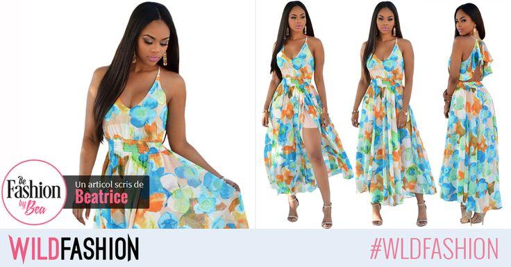 Vara este mai frumoasa intr-o rochie vaporoasa, cu imprimeu floral, viu colorat. Esti de acord?