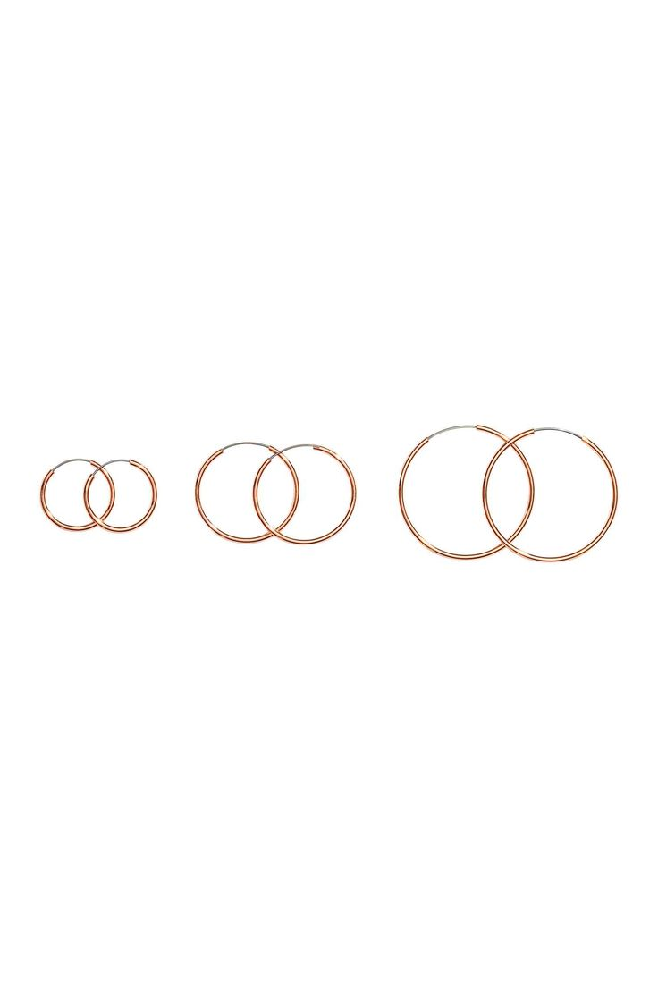 3 paria korvarenkaita - Roosa kulta - Ladies | H&M FI