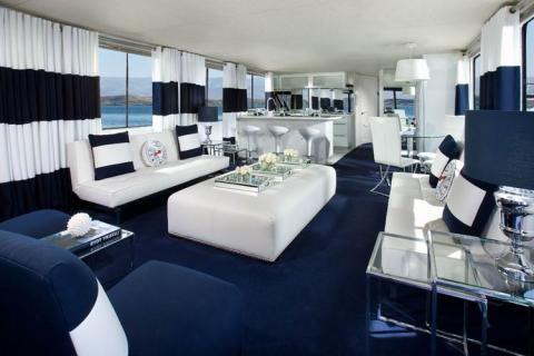 Интерьер квартиры в морском стиле