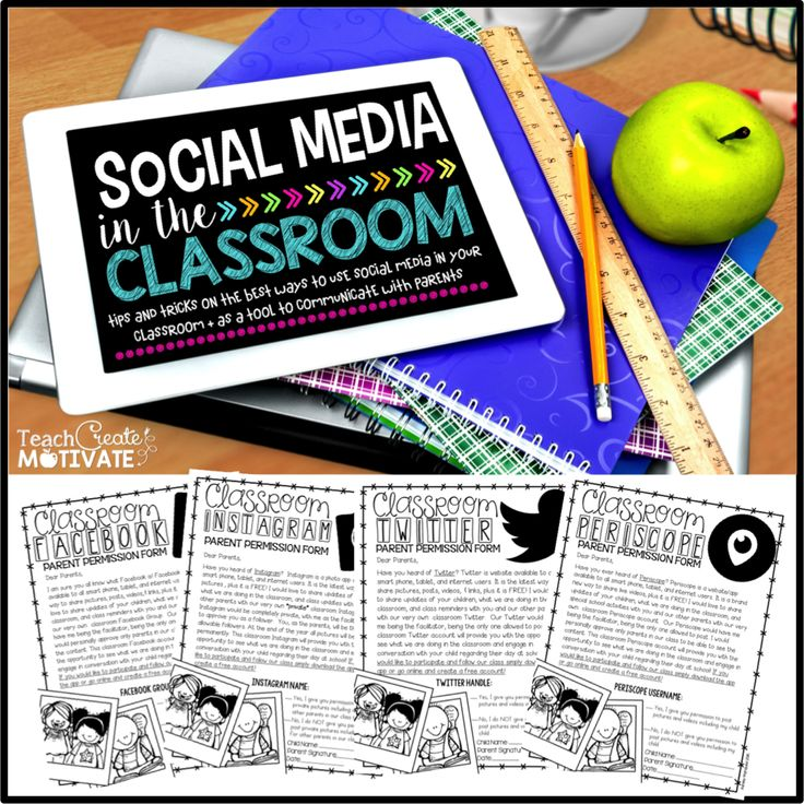 Do you use Social Media in the classroom? Read ideas and get forms for FREE!!